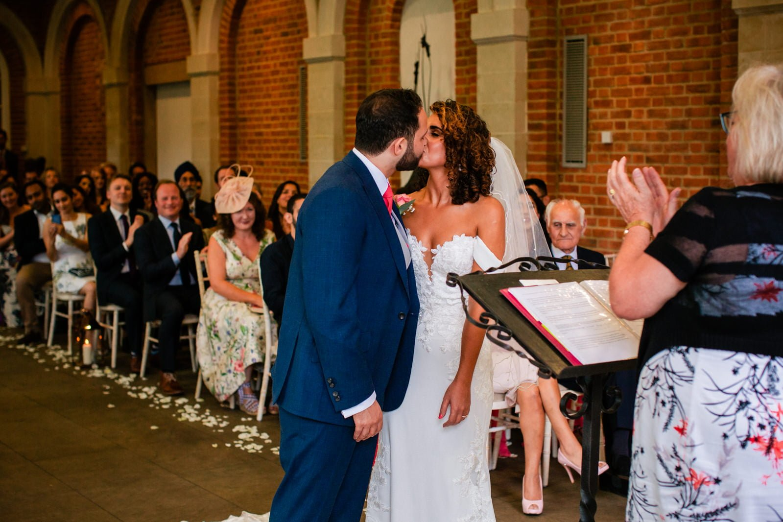 Beautiful Great Fosters Wedding - Melania & Benjamin 26