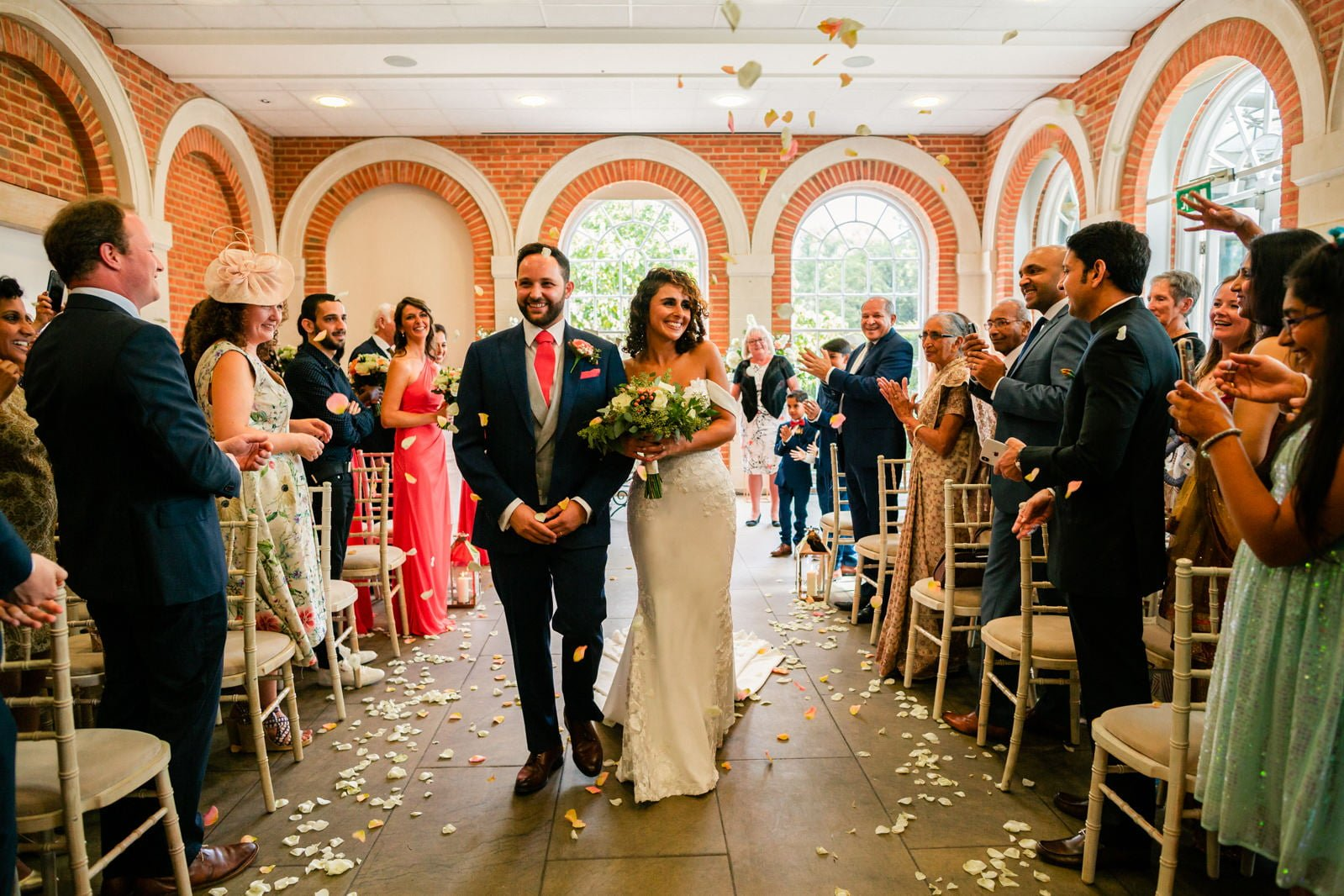 Beautiful Great Fosters Wedding - Melania & Benjamin 28