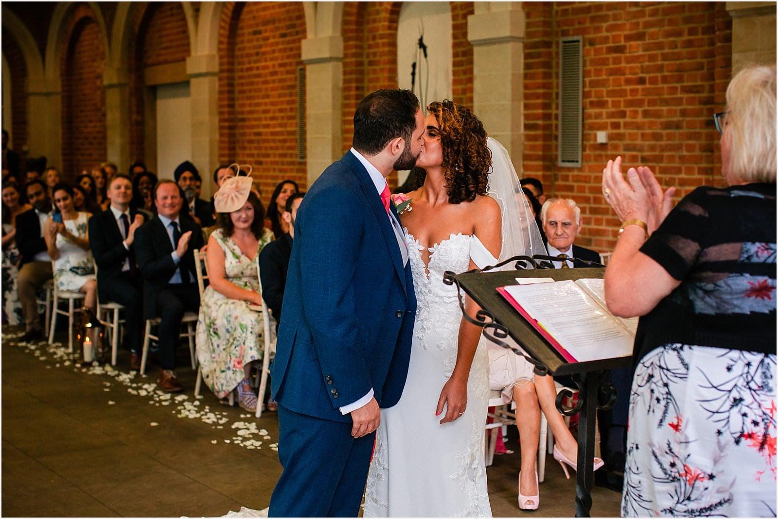 Beautiful Great Fosters Wedding - Melania & Benjamin 15