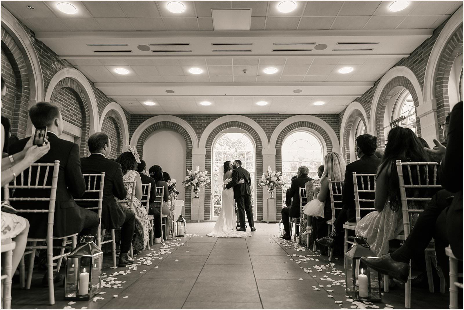 Beautiful Great Fosters Wedding - Melania & Benjamin 16