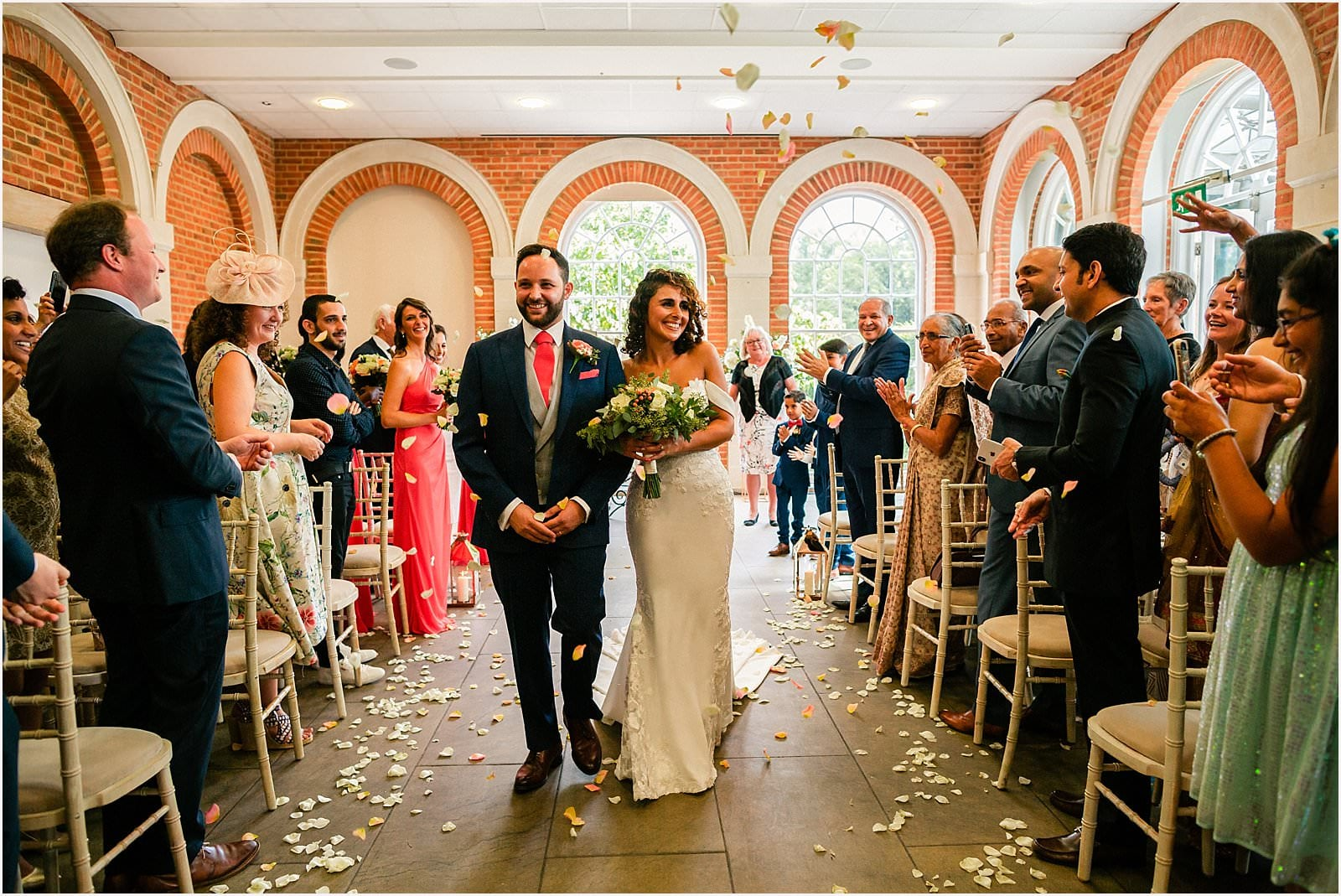 Beautiful Great Fosters Wedding - Melania & Benjamin 19